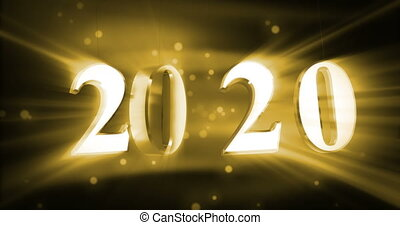 New year 2020 with shine (seamless)