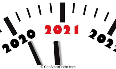 New Year 2021 Clock. Clock countdown to 2021.