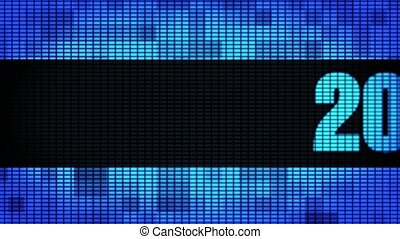 New Year 2021 Front Text Scrolling LED Wall Pannel Display...