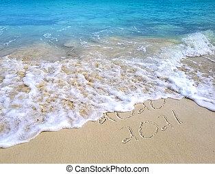 new year 2021 ocean beach