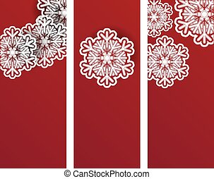 New Year an Christmas banners or flyers design templates set
