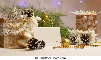 new year and christmas decoration in the shape of a pine cone flashing garland