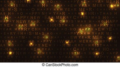 New Year and Christmas shiny glowing background