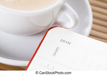 new year and the first cup of coffee