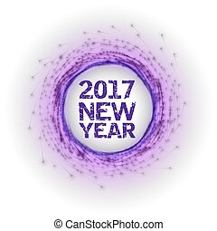 New Year as abstract fireworks - Abstract fireworks circle...