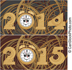 new year background - 2014, 2015