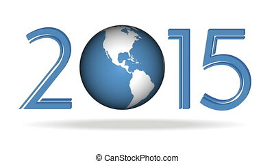 New year background 2015 - FullHD (1080p) video of new year...