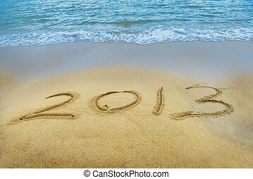 """New year background with """"2013"""""""