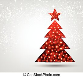 New Year background with Christmas tree.