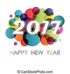 New year background with circles