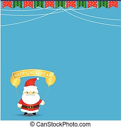 New year background with santa claus