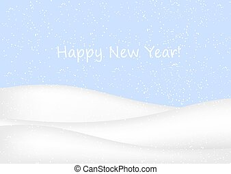 New Year background with snow.
