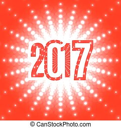 New Year background with the date 2017