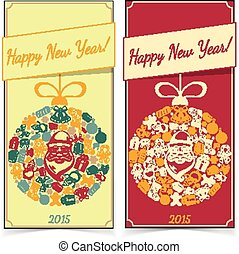 New year banners.