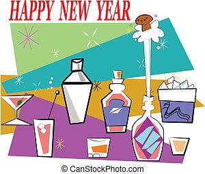 new year bar set