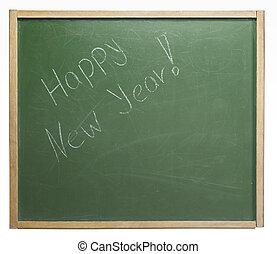 New Year blackboard