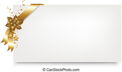 New Year Blank Gift Tag, Isolated On White Background, ...