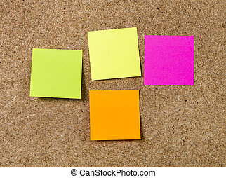 New year Blank Resolutions Post it notes with copy space -...