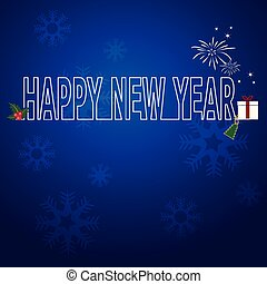 New year  blue vector background