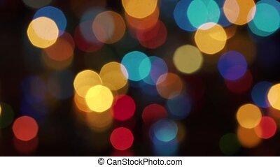 New Year bokeh lights