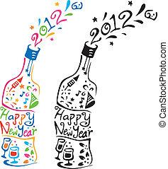 New Year Bottle