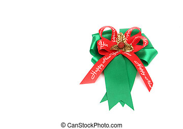 New year bows isolated on white
