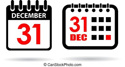 New year calendar vector icon