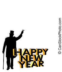 New Year card invitation graphic