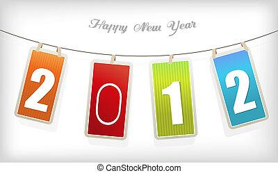 New year card. Vector art