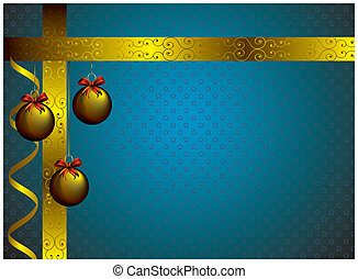 new year card with golden decor