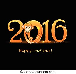 New Year card with-monkey3