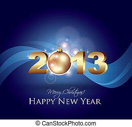 New Year Celebration Card