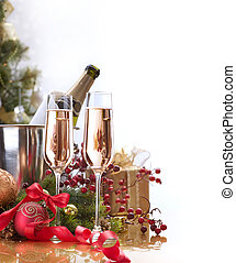 New Year Celebration. Champagne