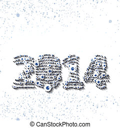 New Year celebration illustration