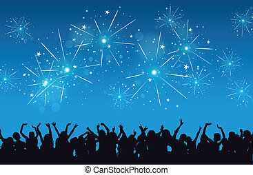 New Year Celebration - Vector background of a New Year eve...
