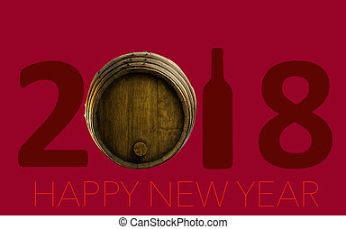 New Year Celebration with wine 2018