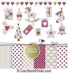 New year - Christmas - design elements