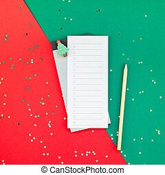 New Year Christmas todo list event planner mockup - Creative...