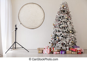 new year Christmas tree photo holiday gifts