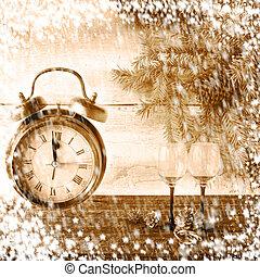 New Year Christmas xmas clock