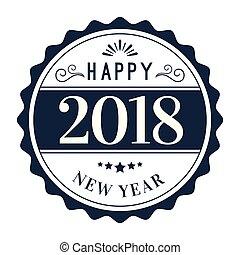 New Year Circle 2018 Vector Image