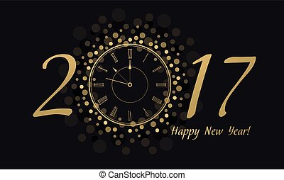 New Year Clock 2017