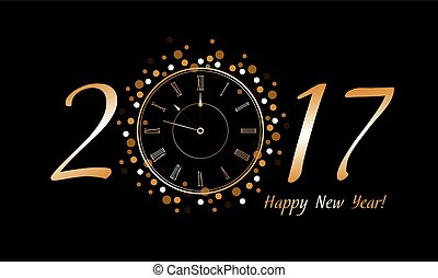New Year Clock 2017
