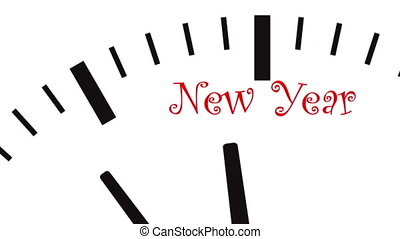 New Year clock - UltraHD video of New Year clock