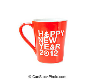 New year coffee cup