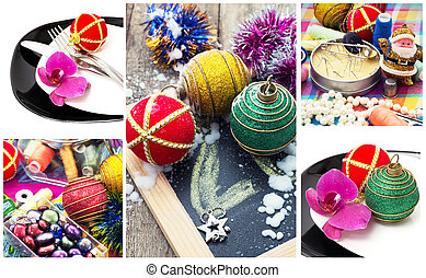 collage Christmas decorations
