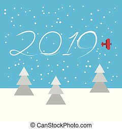New Year concept - plane