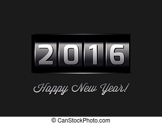 New Year counter 2016.