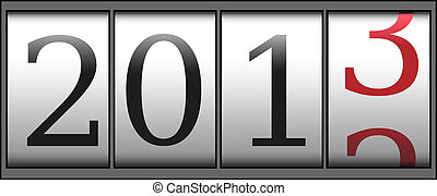New year counter - A new year 2013 counter. Vector