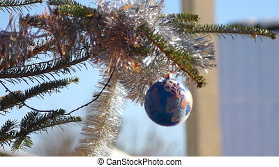 New year decoration ball - New year decoration nature...